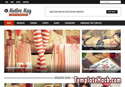 motive mag blogger template
