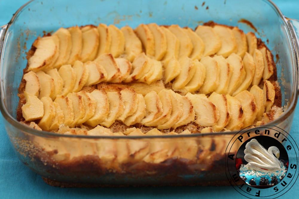 Tarte biscotti aux pommes