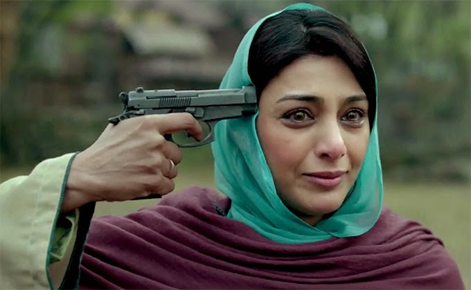 Tabu as Ghazala in Haider, Haider's mother, modeled upon Gertrude, Directed  by Vishal Bhardwaj