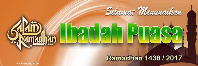 Banner Ramadhan 2017 Coklat
