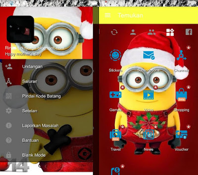 BBM Mod Minions Special Natal 2017 Terbaru V3.2.0.6 Apk