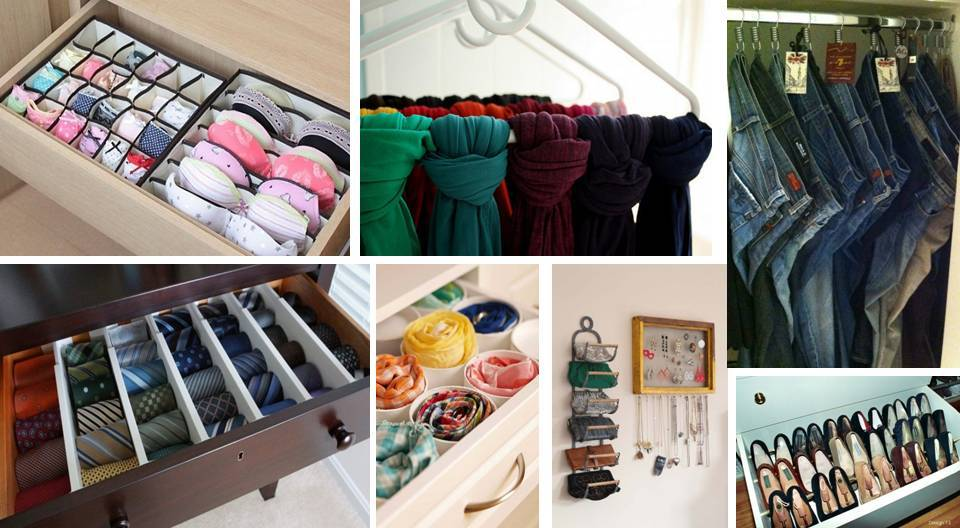 ideas to organize your closet - 15 Creative Ideas To Organize Your Closet and Drawers