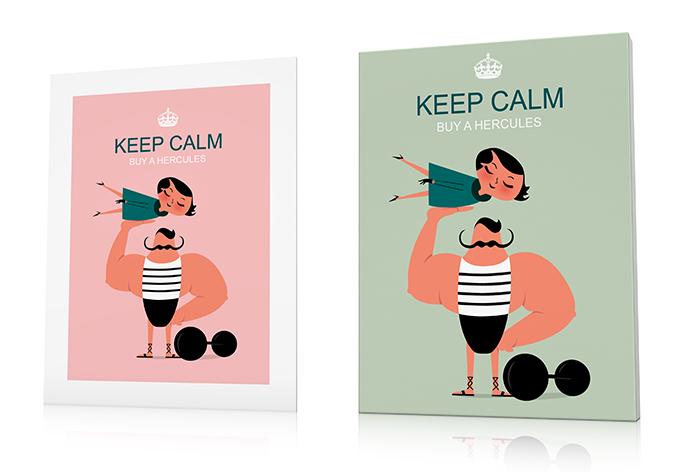 Tableau et affiche de la série keep calm de Qora Shaï