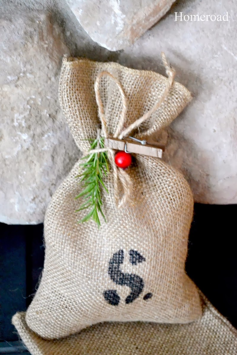 Burlap Gift Bags for Christmas