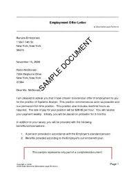 Innovative Offer Letter Sample