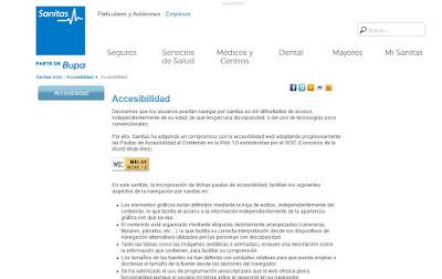 web de sanitas basada en pautas wcag1.0