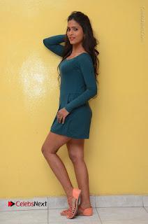 Telugu Actress Prasanthi Stills in Green Short Dress at Swachh Hyderabad Cricket Press Meet  0111.JPG