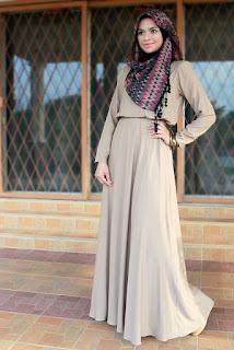 Model baju gamis modern untuk remaja