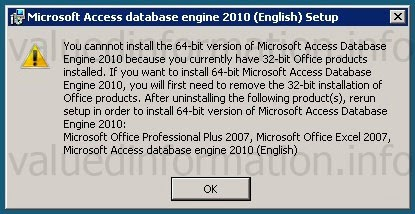 Valued Information: How to solve System Invalid Operation