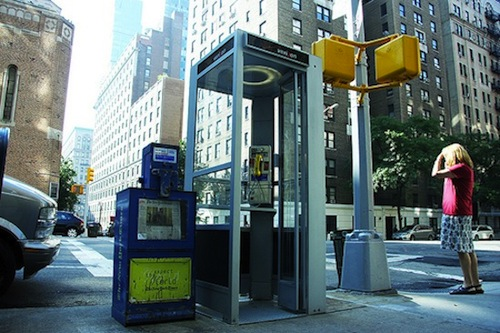 New york phone booth