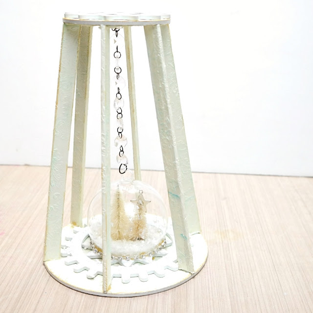 Cage Doll Shrine Snow Globe Base by Dana Tatar