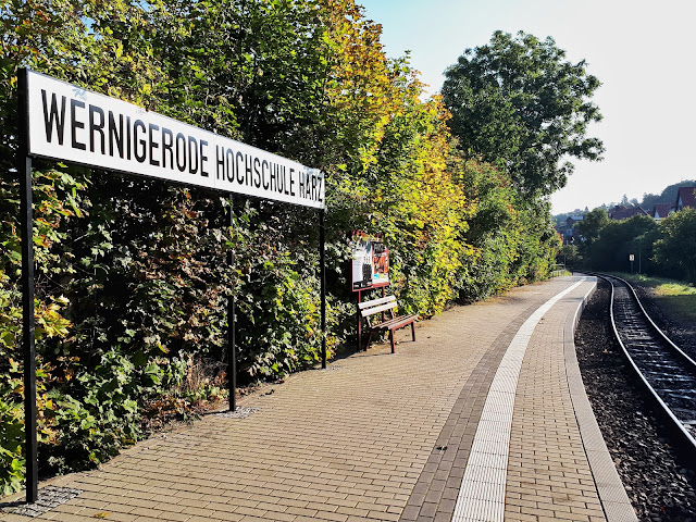 Wernigerode steam train stop