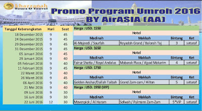 harga umroh april 2016 by air asia