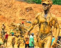 Black Gold Man Ghana Mine worker