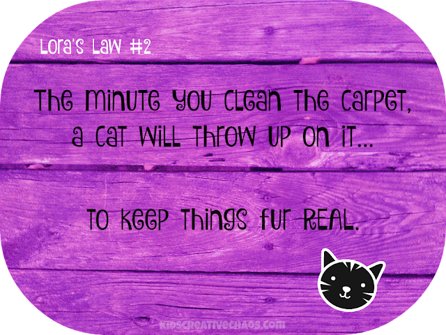 Lora's Law: Cat Throw Up Quote #2 for Facebook