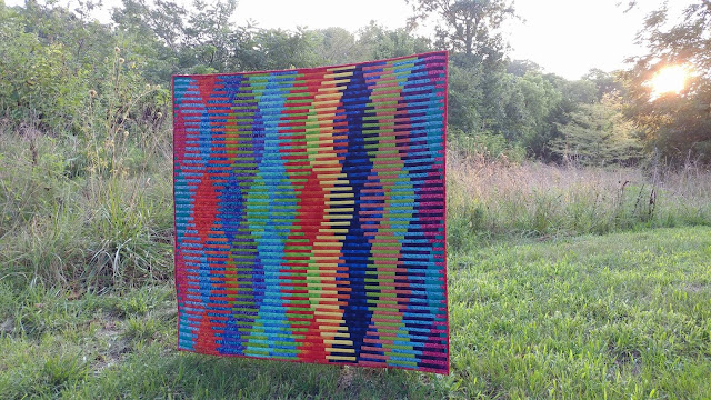 Modern batiks quilt as you go interleave quilt