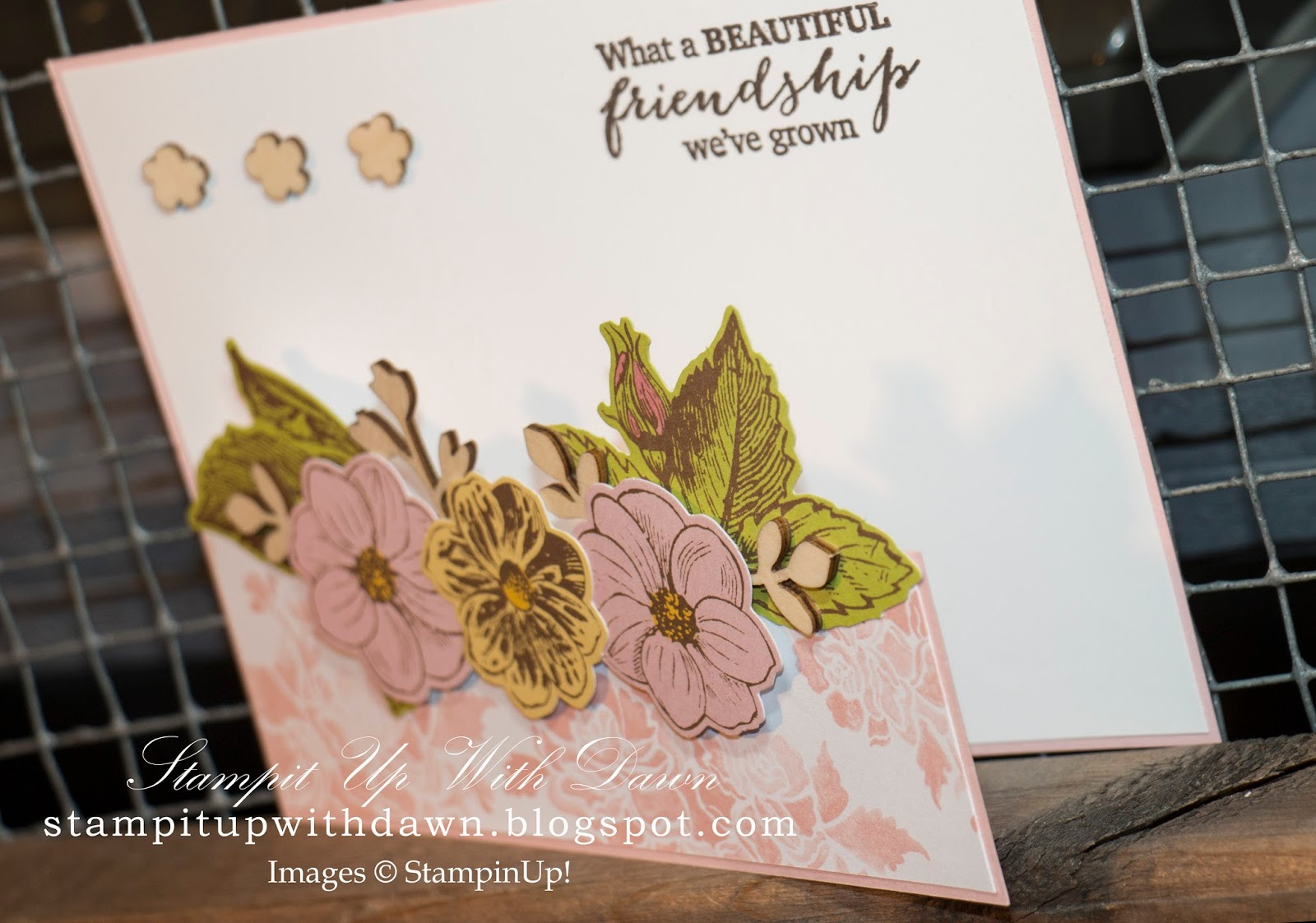 Stamp It Up With Dawn Half Cut Front Friendship Card