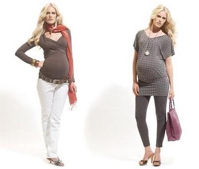 Como vestir una embarazada moderna