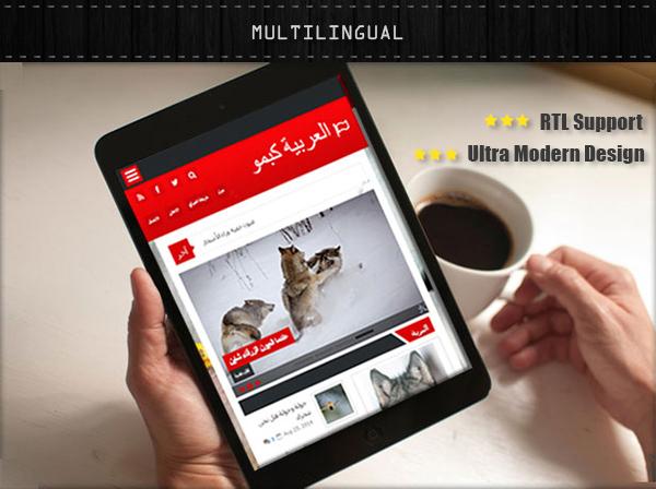 multilingual blogger template
