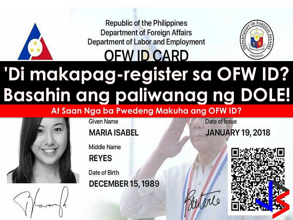 Thousand of Overseas Filipino Workers (OFW) are excited to have their iDOLE or OFW ID.     But excitement turns into frustration and dismay when many can't continue their application on DOLE's website after entering Overseas Employment Certificate (OEC) valid number and being advised to proceed to the nearest POEA Office for further verification.    On POEA Facebook Page, a news has been posted dated, December 13, 2017, saying that the OFW ID for the meantime is only available to Balik-Manggagawa or Returning OFWs.