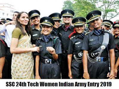SSC 24th Tech Women Indian Army Entry 2019