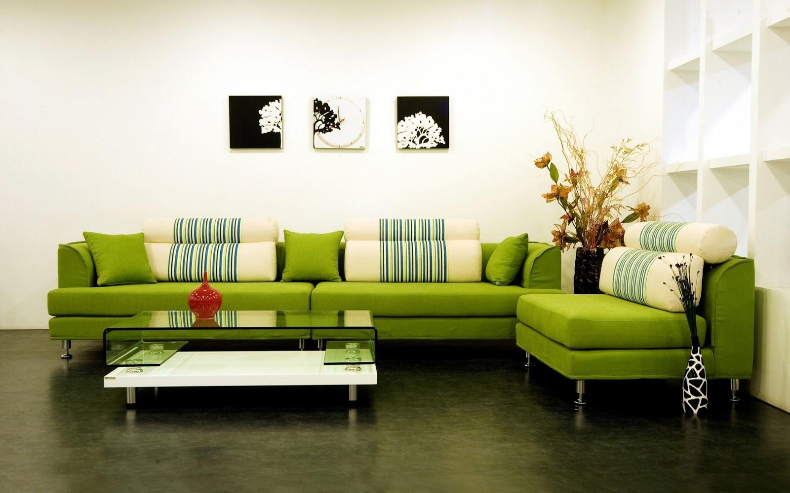 Sala De Estar Estilo Verde