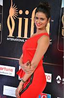 Meenakshi Dixit in Red One Shoulder Red Zipped up gown at IIFA Utsavam Award 03.JPG