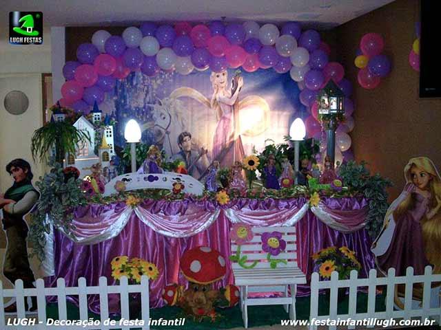 Decoração Os Enrolados - Rapunzel - Festa infantil - Aniversário - Mesa decorada na Barra RJ