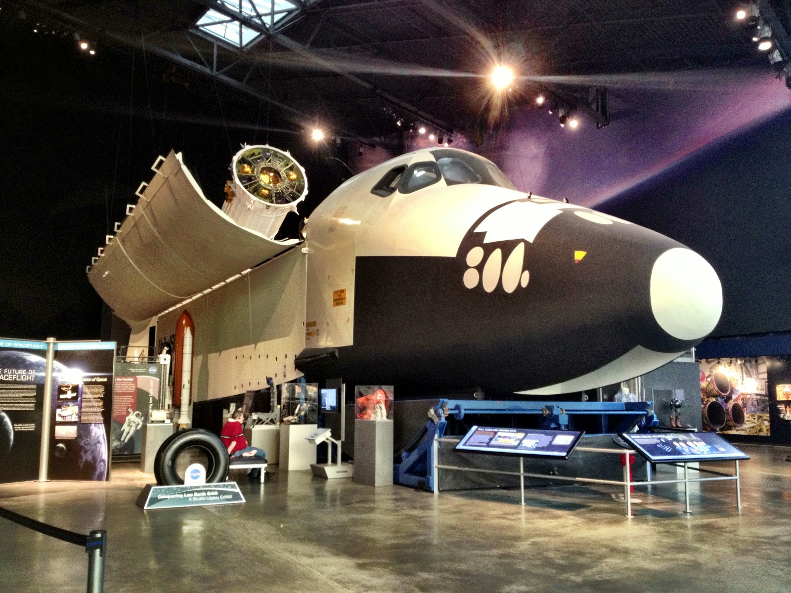 Crew Compartment Tour of the NASA Space Shuttle Trainer at ...