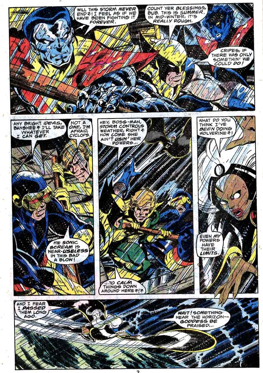 X-men v1 #117 marvel comic book page art by John Byrne