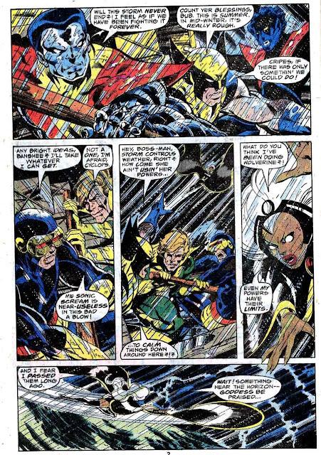X-men v1 #117 marvel comic book page art by John Byrne