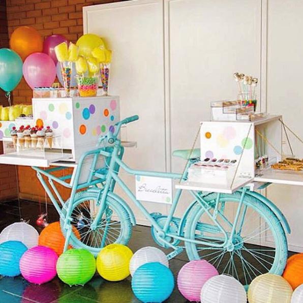 Ideas para una fiesta de bicicleta y como mesa de dulces for Decoracion mesas fiestas