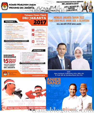 Ilustrasi visi dan misi yang diusung oleh tiga pasangan Calon Gubernur Dan Wakil Gubernur Dki Jakarta Tahun 2017 - Cratis
