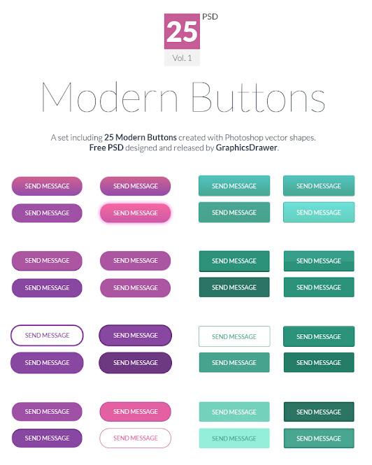 PSD Modern Buttons
