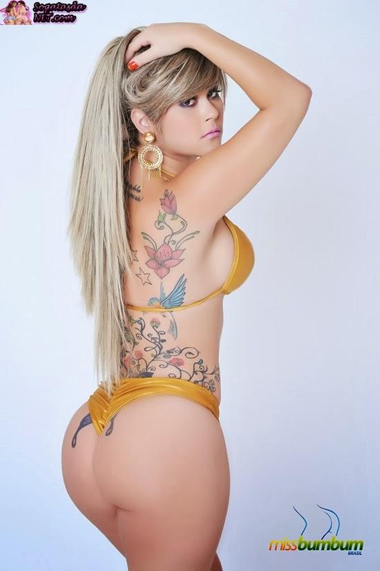 A Paraíba é representada pela modelo Cristiane Duarte