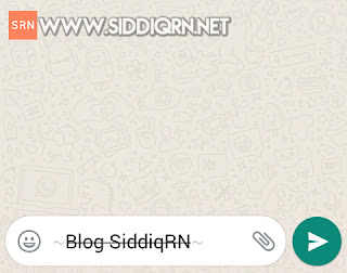 Cara membuat tulisan menjadi coret di whatsapp