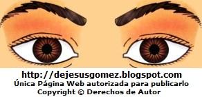 Dibujo de los ojos de un hombre para niños. Ojos hecho por Jesus Gómez