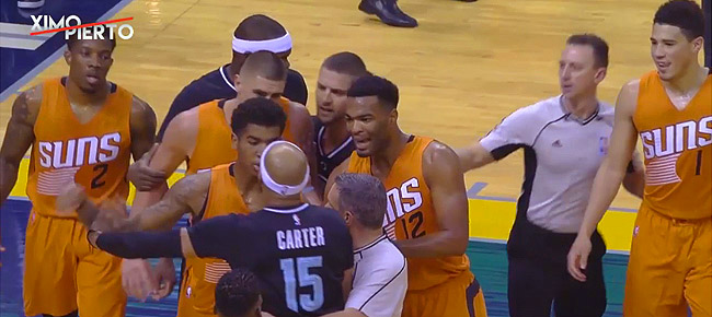 Vince Carter Elbows Devin Booker, Gets Ejected (VIDEO)