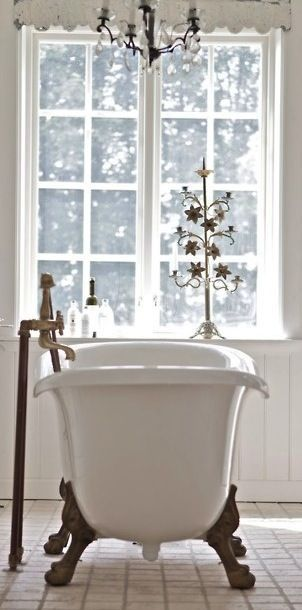 image result for cast iron tub Paris bathroom
