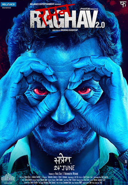 Raman Raghav 2.0, Movie Poster, Directed by Anurag Kashyap, starring Nawazuddin Siddiqui