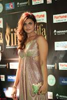 Telugu Actress Aarthi in Deep Neck Backless Golden Gown at IIFA Utsavam Awards 2017 Exclusive 06.JPG