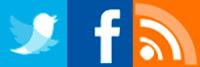 flying social media icons
