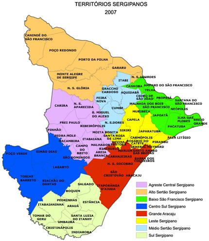 Mapas do Estado de Sergipe