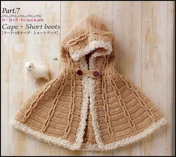 Galería: 31 Fotos de Capas y Ponchos para niñas a Crochet ...