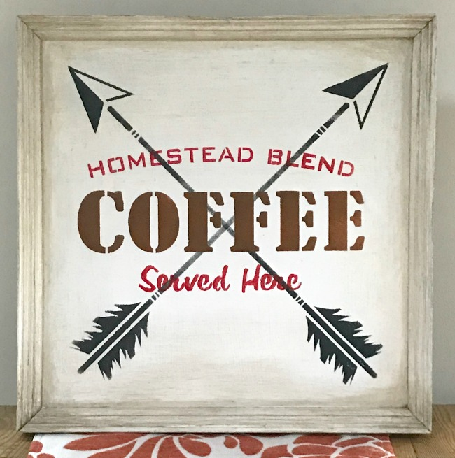 Rustic Coffee Sign with Aging Technique