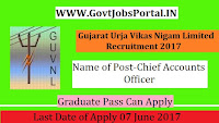 Gujarat Urja Vikas Nigam Limited Recruitment 2017– Chief Accounts Officer