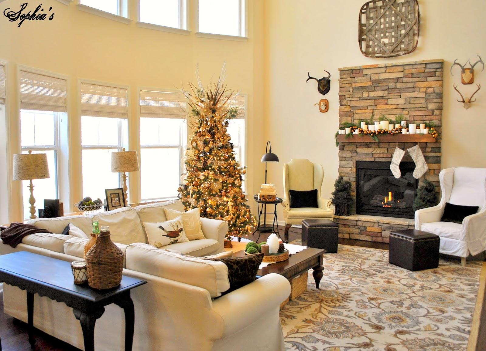 Great Room Ideas: Sophia's: Great Room Rustic Christmas