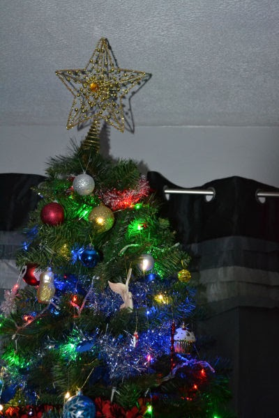 Christmas star tree topper @ ups and downs, smiles and frowns