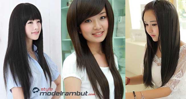 Model Rambut Lurus Panjang