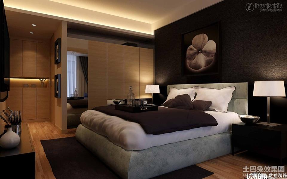 Relaxing dark bedroom designs 2016 for dramatic atmosphere for Bedroom contemporary interior design